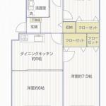 前田ハイツ3号棟 間取り図(間取)
