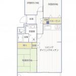 金沢シーサイドタウン並木1丁目第3住宅12-4号棟 間取り図