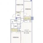 茅ヶ崎グランドハイツA棟403号室の間取り図