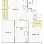 東逗子第二団地10号棟1036号室間取り図