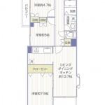 藤和ライブタウン中山5号棟505号室間取り図