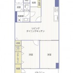 京王大和マンション707号室間取り図