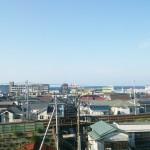 南北両面バルコニー、北側からは海が見えます