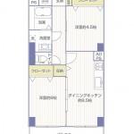 コーシン菊名マンション713号室間取り図