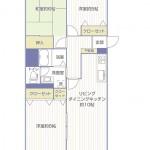 県ドリームハイツ20号棟203号室間取り図