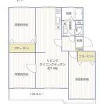 藤沢立石ハイツA棟402号室間取り図2