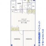 ニックハイム横須賀中央206間取り図