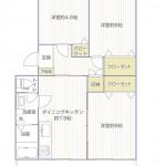 マボリシーハイツ9号棟406号室間取図2