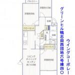 グリーンヒル鴨志田西団地6号棟402号室間取り図