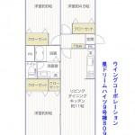 県ドリームハイツ9号棟809号室間取り図