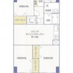 丸増大和中央ハイツ305号室間取り図