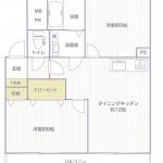扶桑宮崎台ハイツ402号室間取り図