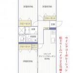 県ドリームハイツ22号棟807号室間取り図