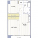 大島住宅606号室間取り図