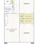 市ノ坪住宅201号室間取図