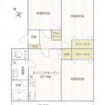 ベターハウス大和2号棟403号室間取図