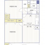 六浦荘団地C棟512号室間取図