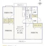 平塚高村団地30号棟404号室間取図