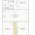 ライフコア久里浜311号室間取図