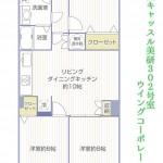 中山キャッスル美研302号室間取り図2