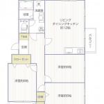 竹山団地1701号棟131号室間取り図