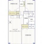 第2磯子ハイツ518号室間取図
