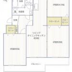 東本郷第2団地3号棟345号室間取図