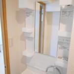 鹿沼公園ハイリビング610号室洗面化粧台