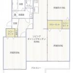 南長津田団地1号棟143号室間取図