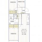 湘南ニューライフ402号室間取図