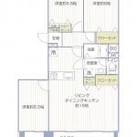 県ドリームハイツ16号棟402号室間取図