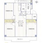 興人磯子台マンションK-1号棟405号室間取図