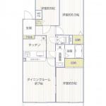 トーカンマンション根岸406号室間取図