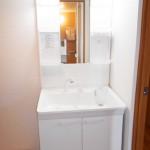 岡上住宅2号棟405号室洗面化粧台