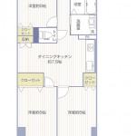 岡上住宅2号棟405号室間取図