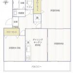 東逗子第二団地14号棟1445号室間取図
