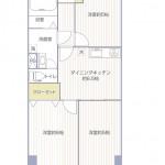 第2ライオンズマンション306号室間取図