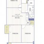 三ツ境グリーンハイム2号棟110号室間取図
