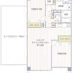 ライオンズマンション保土ヶ谷南604号室間取図