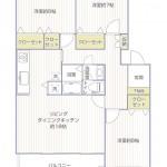 湘南長沢グリーンハイツ11-1号棟303号室間取図