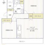 高村団地50号棟205号室間取図