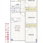 サーパス中央林間309号室間取図