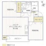 左近山団地3-29号棟102号室間取図