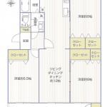 湘南長沢グリーンハイツ1-4号棟402号室間取図