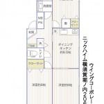 ニックハイム横須賀堀ノ内206号室間取図