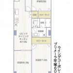 プリメーラ平塚609号室間取図