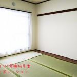 南向きで陽当たり良好な6帖の和室です