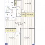 二俣川住宅609号室間取り図