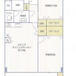 六浦荘団地C棟715号室間取図