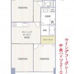 中央ハイツ外観210号室間取図